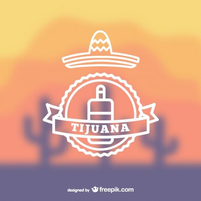 Vectores de elementos Mexicanos, Plantilla logo mexicano