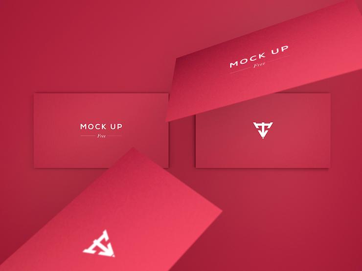 mockups tarjetas de presentacion