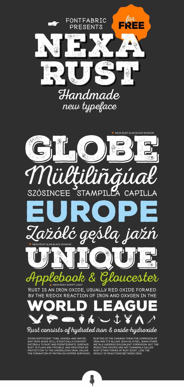 nexa-rust-free-font-detailed-image1