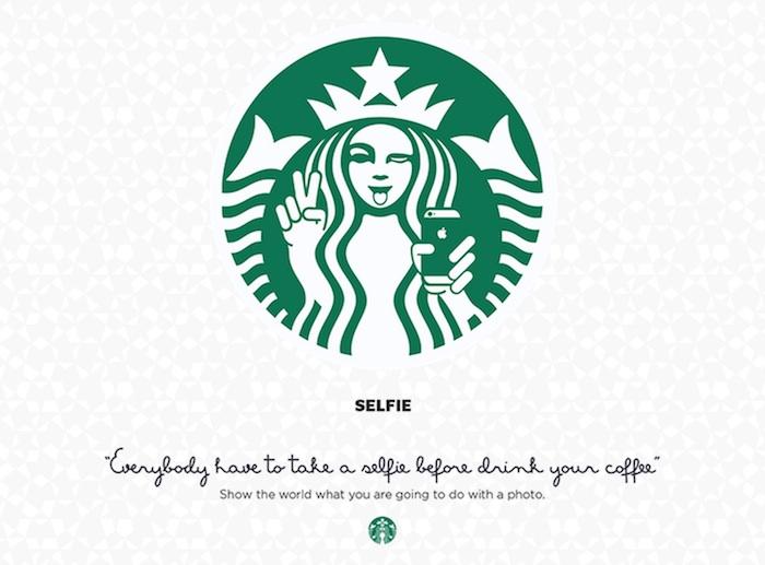 parodias logo Starbucks selfies