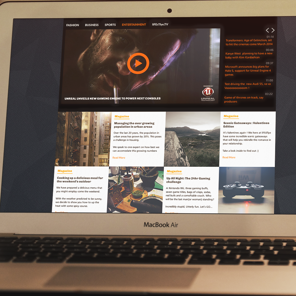Plantilla PSD para diseño de revista web