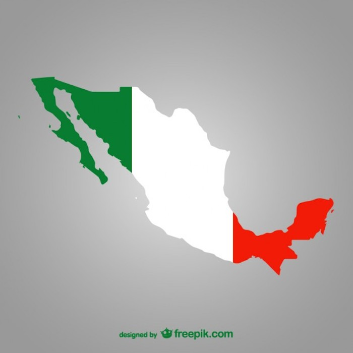 Silueta de la republica mexicana