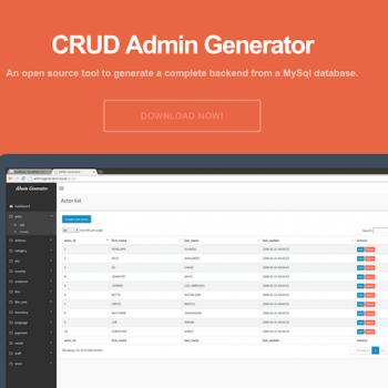 CRUD Admin generator