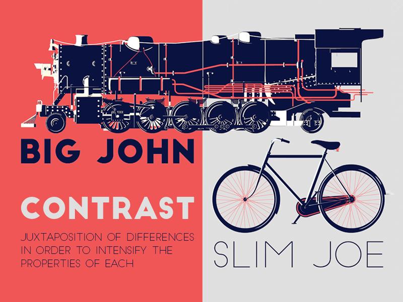 contrast font