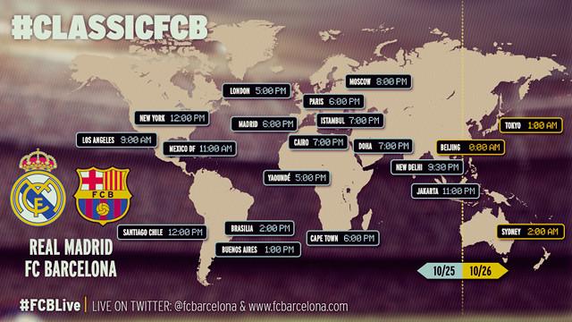 horarios real madrid v barcelona