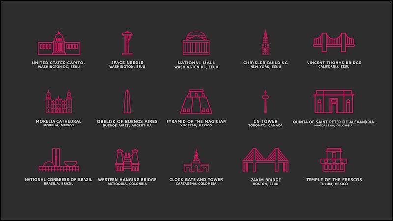 iconos monumentos historicos america