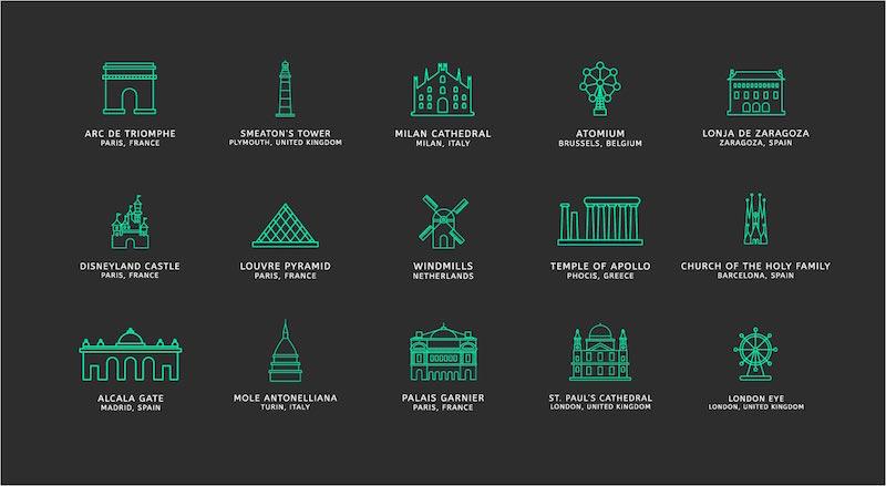 iconos monumentos historicos