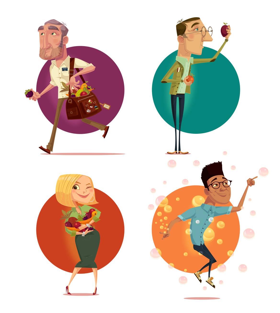 ilustraciones James Gilleard personajes