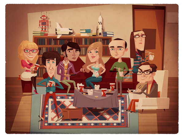 ilustraciones James Gilleard the big bang theory