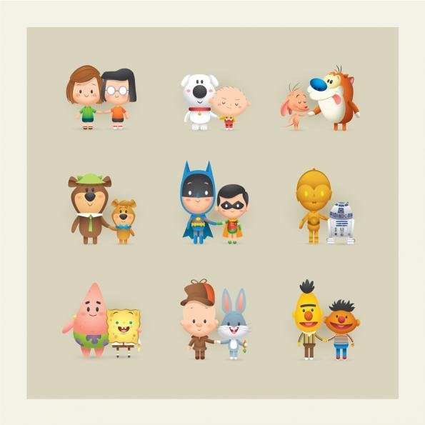 ilustraciones Jerrod Maruyama personajes