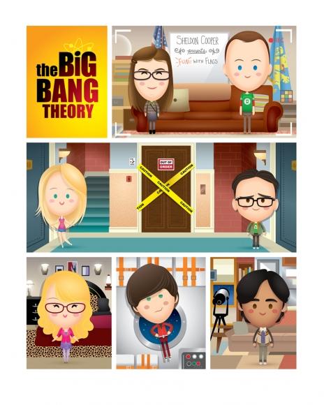 ilustraciones Jerrod Maruyama the big bang theory
