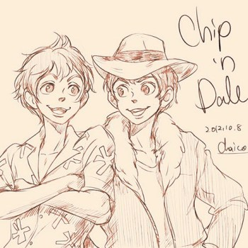 ilustraciones humanas chip and dale