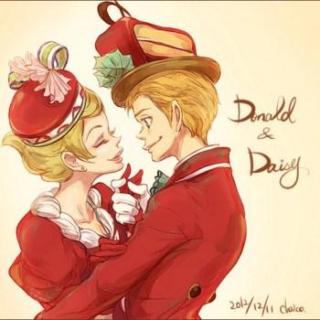 ilustraciones humanas donald y daisy