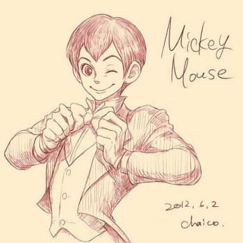 ilustraciones humanas mickey