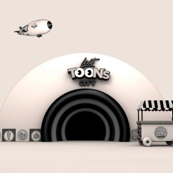 lost toons city branding entrada render