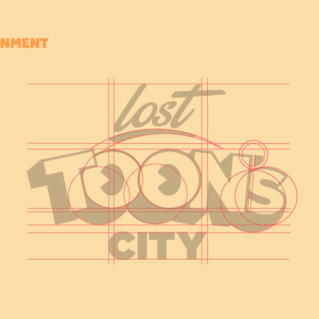 lost toons city branding logo grids