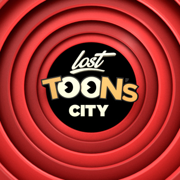 lost toons city branding logo theme