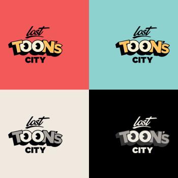 lost toons city branding logo usos