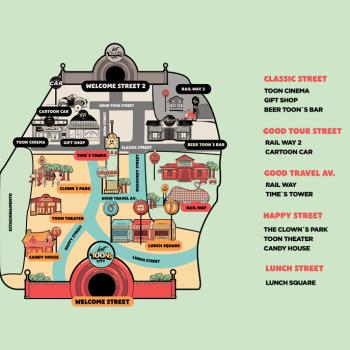 lost toons city branding mapa