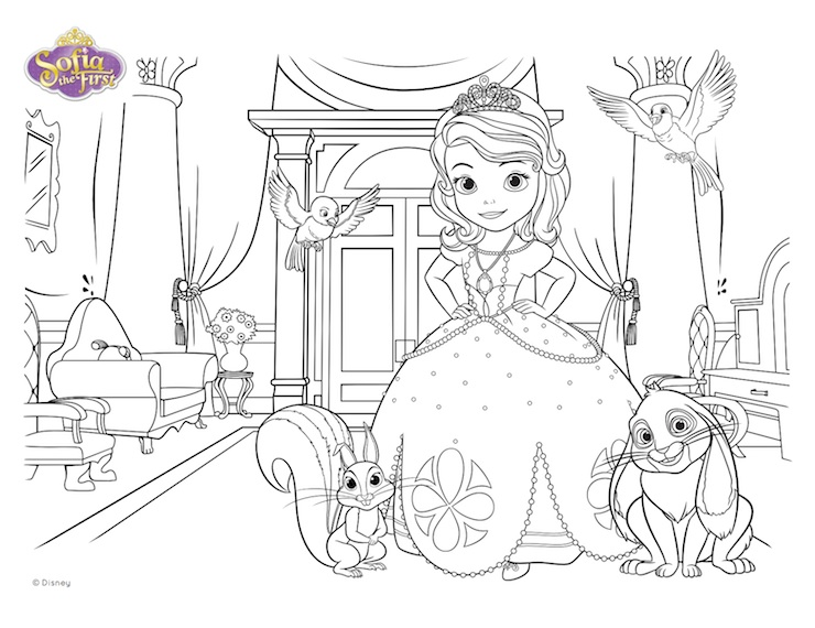Princesas Disney Para Colorear Pdf: Disney Descendants Mal Coloring Pages Coloring Pages
