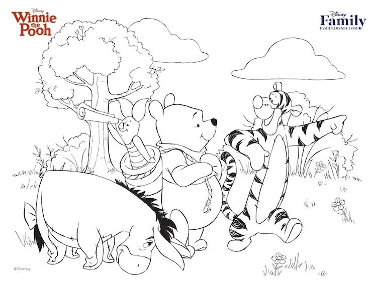 Winnie Pooh, Tiger, Burro y Puerquito