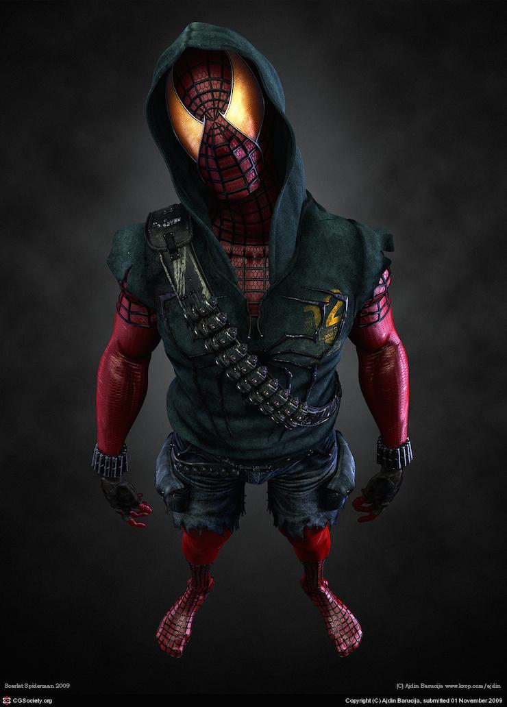 Un extraño Spiderman por Adjin Barucija