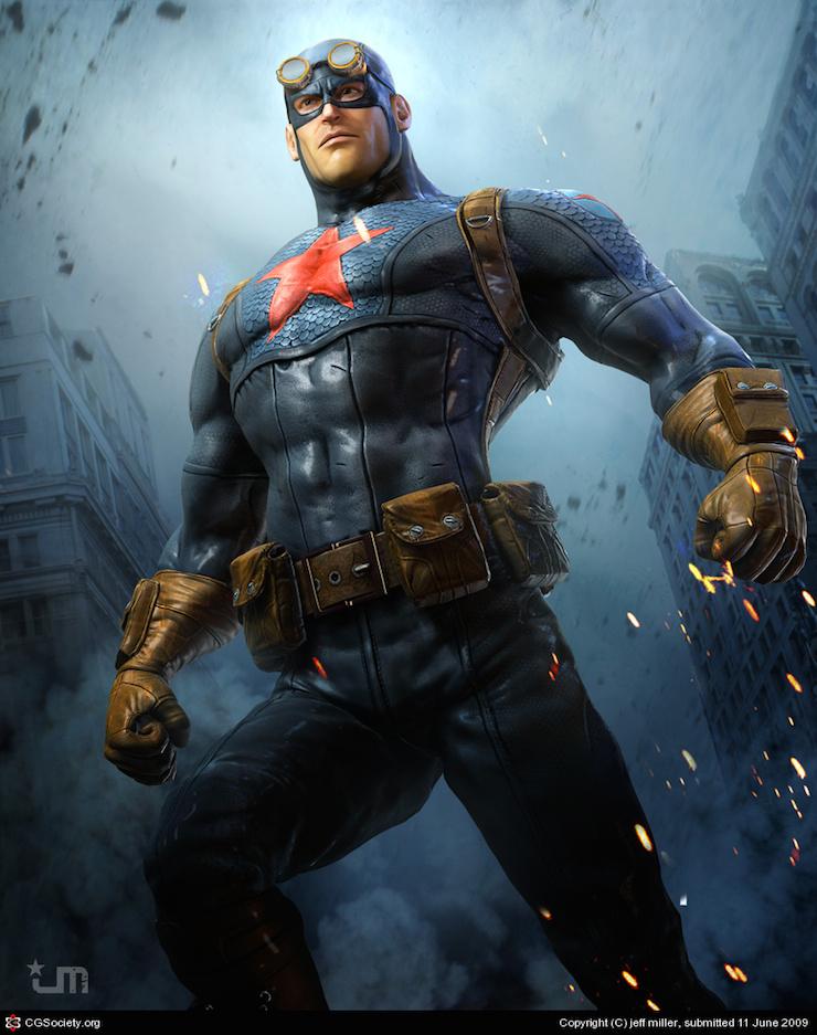 Superhéroe para un concurso de diseño de Pixologic por Jeff Miller