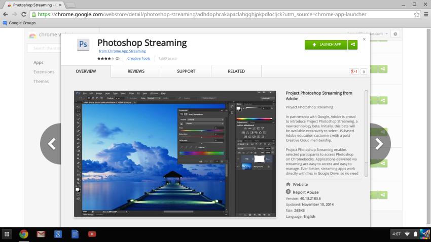 Photoshop Streaming