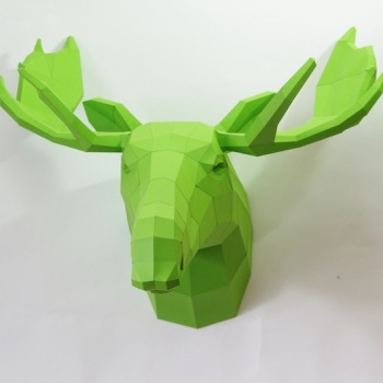 animales papel 3D alce