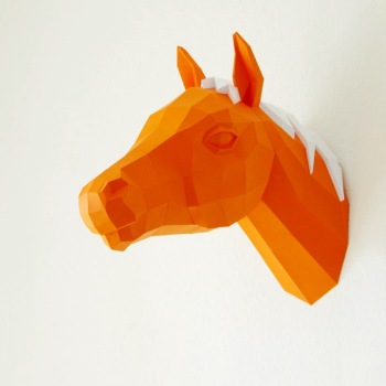 animales papel 3D caballo