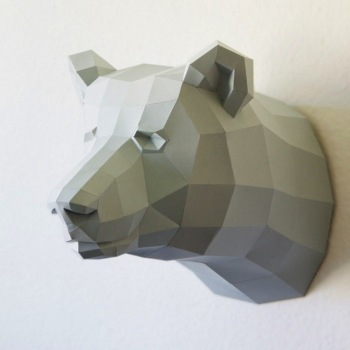 animales papel 3D oso