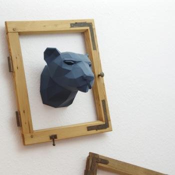 animales papel 3D pantera