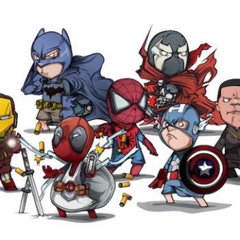 caricaturas superheroes