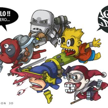 caricaturas superheroes 1