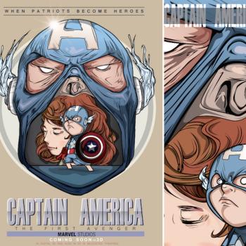 caricaturas superheroes capitan america