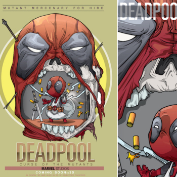 caricaturas superheroes deadpool