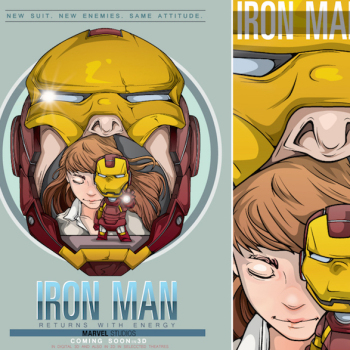 caricaturas superheroes iron man