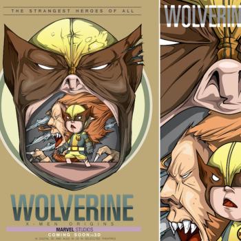 caricaturas superheroes wolverine