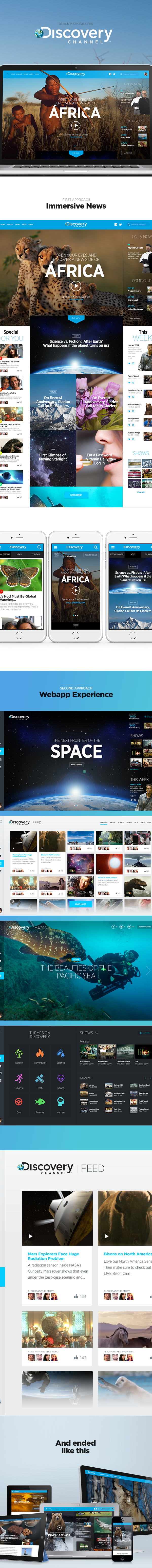 diseno web discovery channel