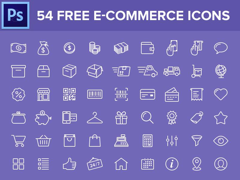 iconos tiendas online