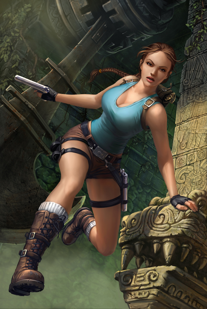 ilustracion digital Dmitry Grebenkov lara croft