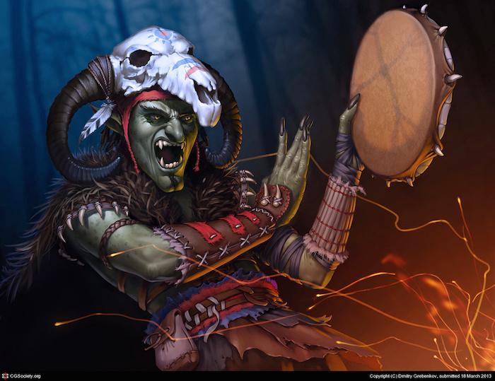 ilustracion digital Dmitry Grebenkov shaman