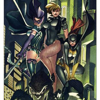 ilustraciones superheroes chicas