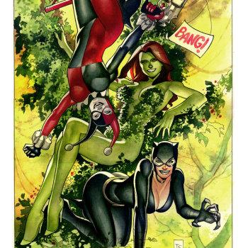 ilustraciones superheroes chicas dc comics