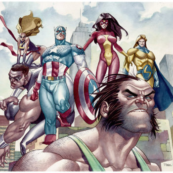 ilustraciones superheroes civil war