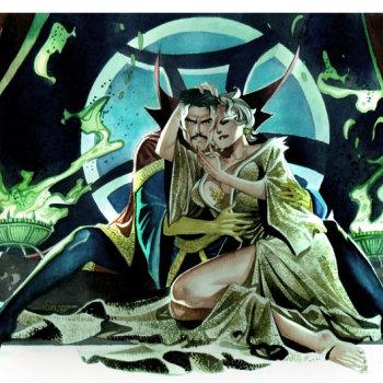 ilustraciones superheroes dr strange