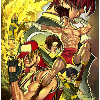 ilustraciones superheroes king of fighters
