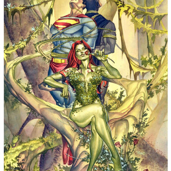 ilustraciones superheroes poison ivy