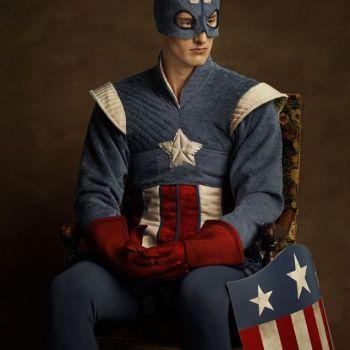 superheroes siglo 16 capitan america