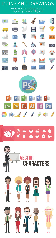 vectores inforgrafia iconos